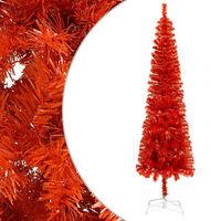 vidaXL Schlanker Weihnachtsbaum Rot 150 cm