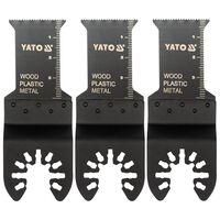YATO 3-tlg. Sägeblatt-Set für Multi-Cutter
