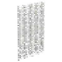 EISL Duschvorhang Grau Mosaikmuster 200x180x0,2 cm
