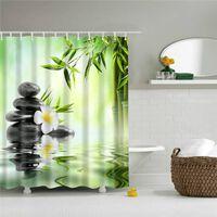 3d Gedruckte Waldbäume Badezimmer Duschvorhang Bildschirm Mit Haken