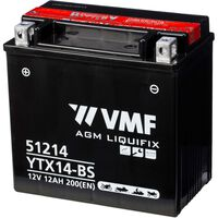 VMF Powersport Liquifix Batterie 12 V 12 Ah MF YTX14-BS