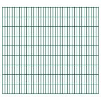 vidaXL 2D Gartenzaun-Elemente 2,008x1,83 m Gesamtlänge 20 m Grün