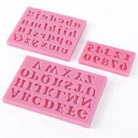 3-tlg. Silikon Zahlen & Buchstaben Kuchen Ausstecher Alphabet