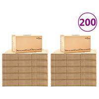 vidaXL Umzugskartons XXL 200 Stk. 60×33×34 cm