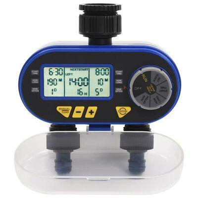 vidaXL Bewässerungstimer mit Doppelauslass Automatisch Digital