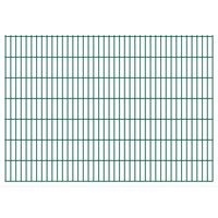 vidaXL 2D Gartenzaun-Elemente 2,008x1,43 m Gesamtlänge 8 m Grün