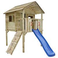 vidaXL Spielturm mit Rutsche und Leiter 360 x 255 x 295 cm Holz