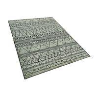 Teppich Schwarz-grau Zickzackmuster 160 X 230 Cm Keban