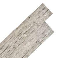 vidaXL PVC Laminat Dielen 4,46 m² 3 mm Hellgrau