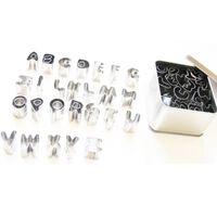 26-teiliges Set Mit Alphabet-plastikplätzchenstecher -