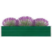 vidaXL Garten-Hochbeet Verzinkter Stahl 320×40×45 cm Grün