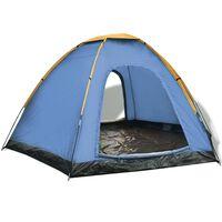 vidaXL 6-Personen-Zelt Blau und Gelb