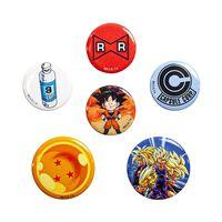 Dragon Ball Z, 6x Button Abzeichen