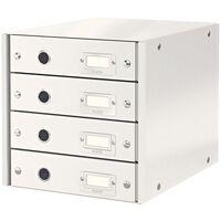 Leitz Schubladenbox WOW Weiß 4 Schubladen