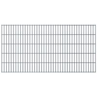 vidaXL 2D Gartenzaun-Elemente 2,008x1,03 m Gesamtlänge 6 m Grau