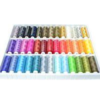 39 Spulen Von 250 Metern Bunte Farben 100% Polyesterr,