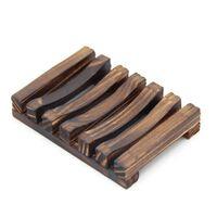 Holz natürliche Bambus Seife Geschirr Tabletthalter Lagerung Seife