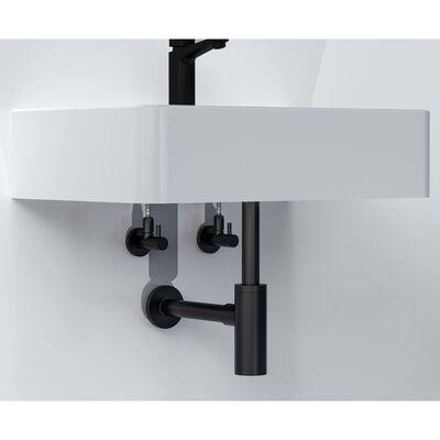 SCHÜTTE MS-Eckventil mit Rosette 10 mm Q Schwarz