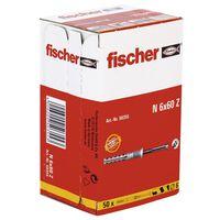 Fischer Nageldübel mit Senkkopf Hammerfix 50 Stk. N 6 x 60/30 S