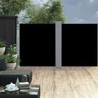 vidaXL Seitenmarkise Ausziehbar Schwarz 160×600 cm