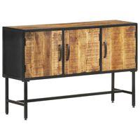 vidaXL Sideboard 110x30x70 cm Raues Mangoholz