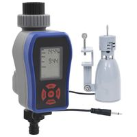 vidaXL Digitale Bewässerungsuhr mit Einzelauslass und Regensensor