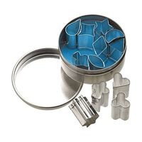Set Mit 12 Mini-metallplätzchen-/ Glasurstecher (1.5cm) In