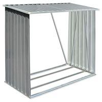 vidaXL Brennholzlager Verzinkter Stahl 163 x 83 x 154 cm Grau