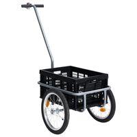 vidaXL Fahrrad-Lastenanhänger Faltbare Transportbox 50 L Schwarz 150kg