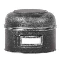 LABEL51 Aufbewahrungsbehälter 13x13x10 cm S Antik-Schwarz