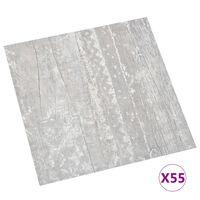 vidaXL PVC-Fliesen Selbstklebend 55 Stk. 5,11 m² Grau