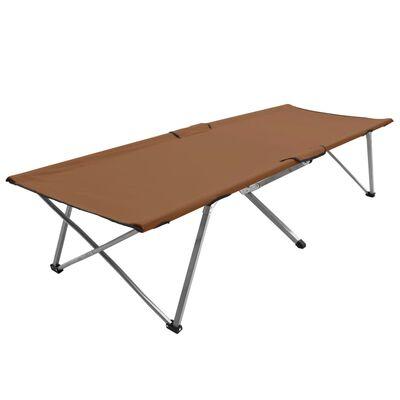 vidaXL Campingbett 206 x 75 x 45 cm XXL Braun