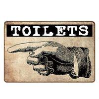 Toilettenschild Metall Vintage Platten Für Toilette Badezimmer -