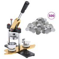 vidaXL Buttonmaschine mit 500 Button-Teilen 58 mm Drehstanze