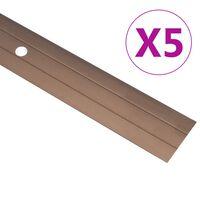 vidaXL Übergangsprofil 5 Stk. Aluminium 100 cm Braun