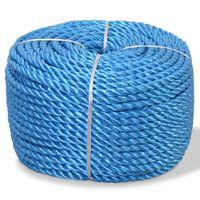 vidaXL Polypropylenseil 16 mm 100 m Blau