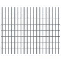vidaXL 2D Gartenzaun-Elemente 2,008x1,63 m Gesamtlänge 10 m Grau