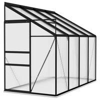 vidaXL Gewächshaus Anthrazit Aluminium 5,24 m³