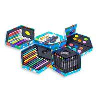 52er | Kinder Briefpapier Box | Mit Marker, Buntstifte , Farben,