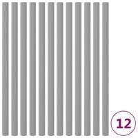 vidaXL Schaumstoffhüllen für Trampolinstangen 12 Stk. 92,5 cm Grau