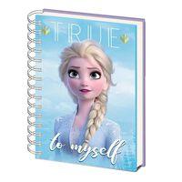 Frozen 2 / Die Eiskönign 2, Notizbuch A5 - Elsa & Anna