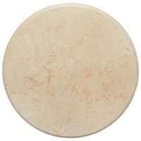 vidaXL Tischplatte Creme Ø50x2,5 cm Marmor