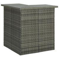 vidaXL Eck-Bartisch Grau 100x50x105 cm Poly Rattan