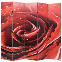 vidaXL Raumteiler klappbar 200 x 170 cm Rose Rot