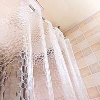 Verdickter Transparenter Duschvorhang In Mehreren Größen Mit Haken