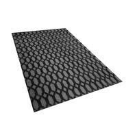Teppich Dunkelgrau 140 X 200 Cm Kurzflor Cizre