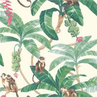 DUTCH WALLCOVERINGS Tapete Monkey Puzzle Weiß