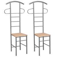 vidaXL Herrendiener Stühle 2 Stk. Metall
