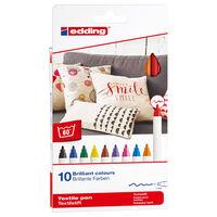 edding Textilstifte 10 Stk. Mehrfarbig 4600