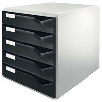 Leitz Schubladenbox mit 5 Schübe Schwarz